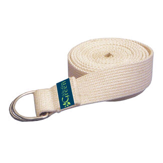 Organic Cotton Yoga Strap - Natural