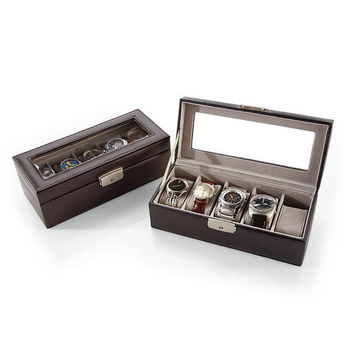 Royce 5-Slot Leather Watch Box