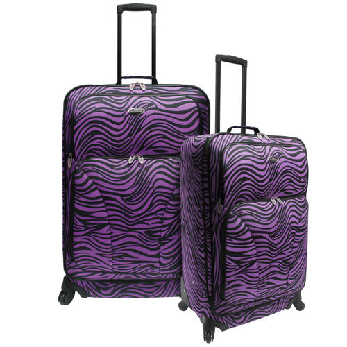 U.S. Traveler Fashion Print 2-Piece Spinner Luggage Set