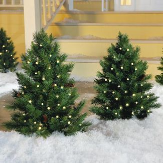 Cordless LED Pre-lit Walkway Tree
