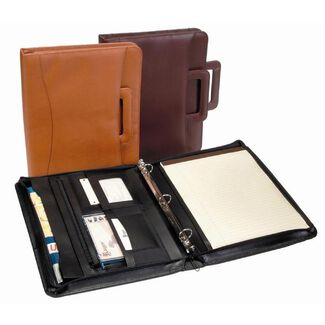 Royce Leather Zip Around Binder Padfolio