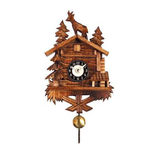 Black Forest Log Cabin Clock