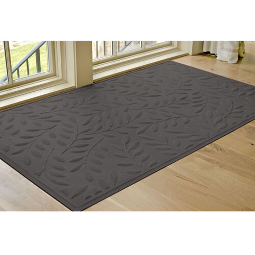 Waterhog Britney Leaf Low-Profile Microfiber Floor Mat