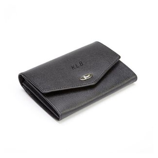 Personalized Royce Leather RFID Blocking Saffiano Ladies' French Purse