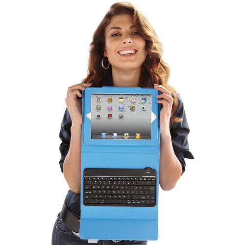 Bluetooth® Keyboard with Tech-Grip Case for iPad® Tablets