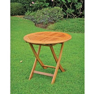 Royal Tahiti Outdoor Furniture: 28-Inch Round Folding Table
