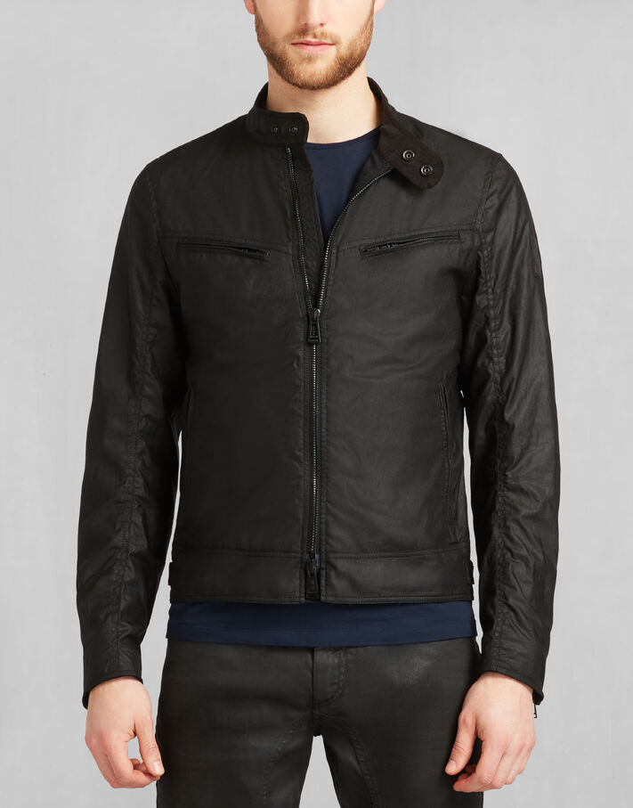 Black Waxed Cotton Waxed Cotton - Belstaff