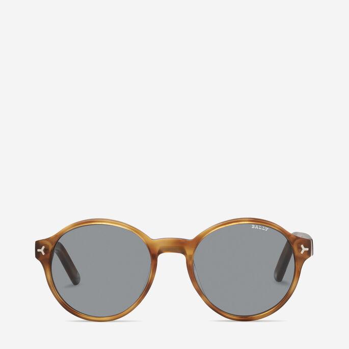 azetat sonnenbrille in schildpatt optik f r herren runde. Black Bedroom Furniture Sets. Home Design Ideas