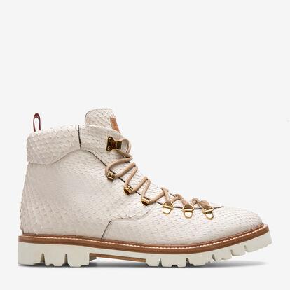 White PYTHON Shoes - Bally