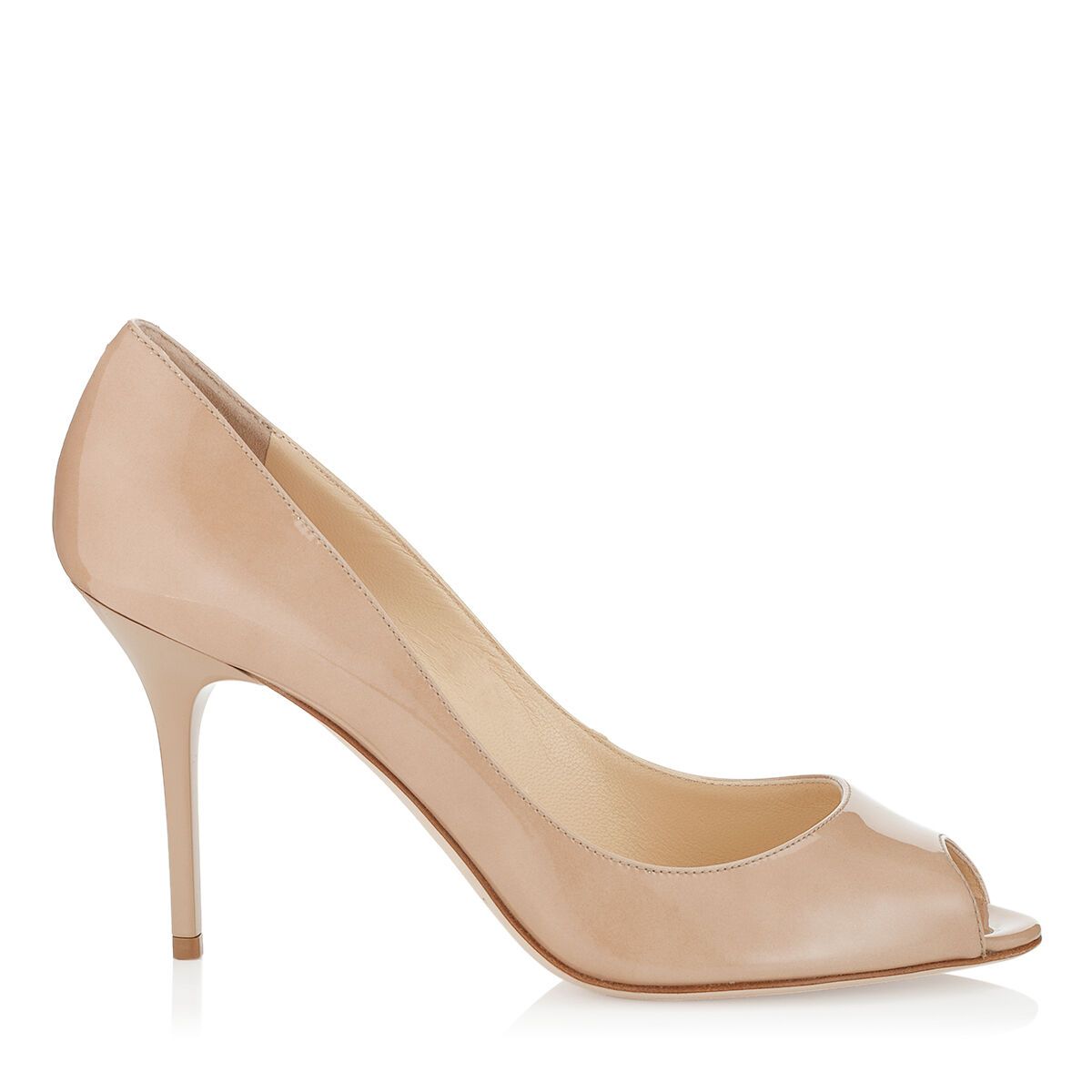 Patent Nude High Heels