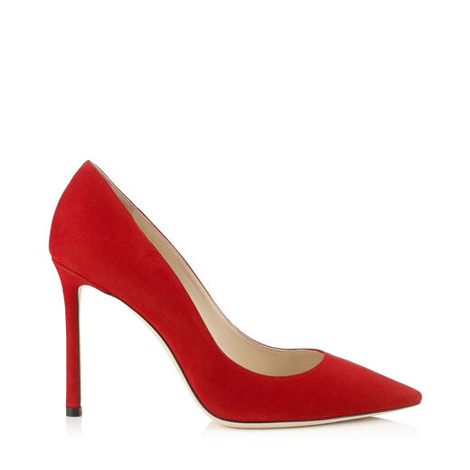 WOMEN'S ROMY 100 SUEDE POINTED TOE PUMPS