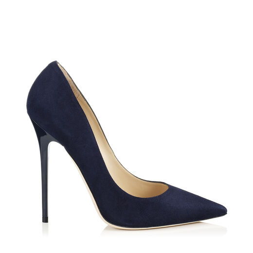 ANOUK Navy Suede Pointy Toe Pumps