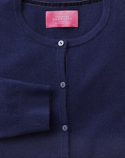 Blue merino cashmere cardigan
