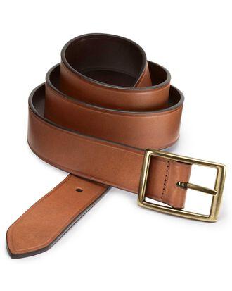 Brown leather reversible belt