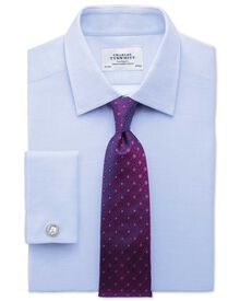 Slim fit Egyptian cotton diamond texture sky blue shirt