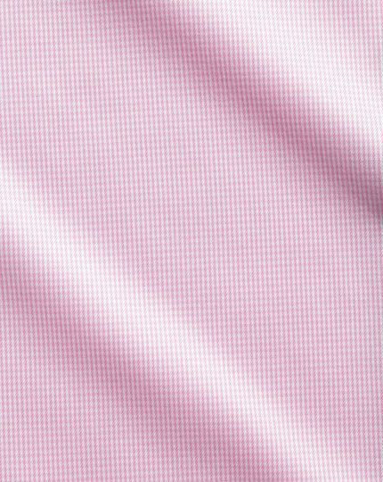 Slim fit cutaway non-iron puppytooth light pink shirt