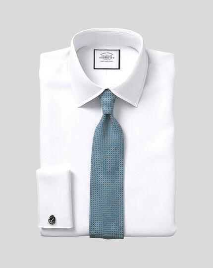 Extra slim fit Egyptian cotton poplin white shirt