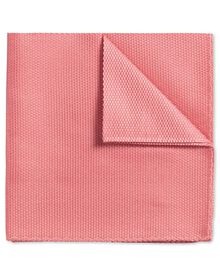Coral plain classic pocket square