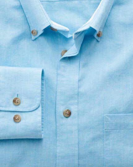 Slim fit aqua blue shirt