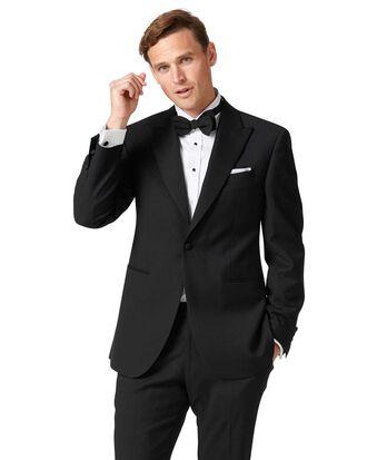 Black classic fit peak lapel tuxedo jacket