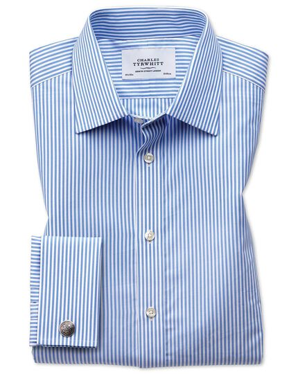 Classic fit Bengal stripe sky blue shirt