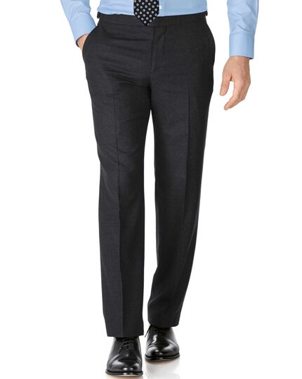 Charcoal slim fit British serge luxury suit pants