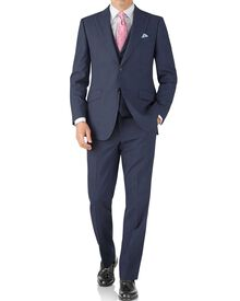 Airforce blue puppytooth classic fit Panama business suit