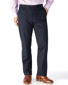 Navy slim fit stretch cavalry twill chinos