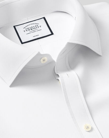 Extra slim fit non-iron poplin white shirt