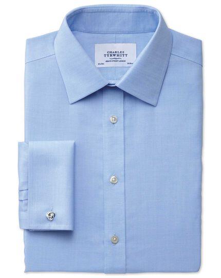 Extra slim fit non-iron micro spot sky blue shirt