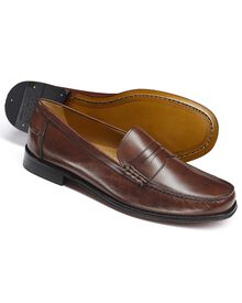 Brown Finsbury penny loafers