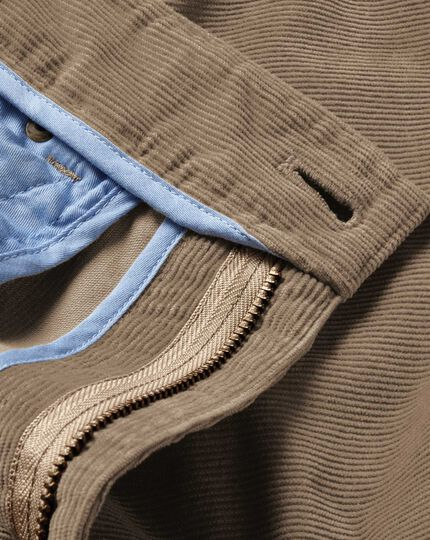 Natural slim fit stretch 5 pocket needle cord pants
