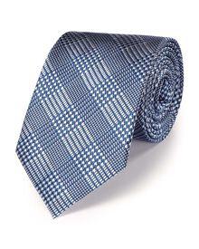 Sky silk classic Prince of Wales check tie