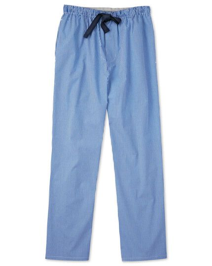 Gingham cotton pajamas pants