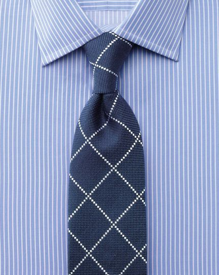 Classic fit Egyptian cotton stripe blue shirt