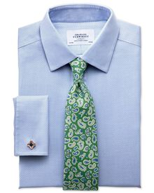 Classic fit non-iron imperial weave sky blue shirt