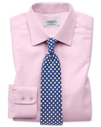 Extra Slim Fit Kavallerie-Twill Hemd aus ägyptischer Baumwolle in Hellrosa
