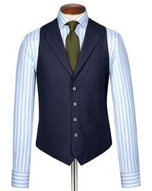Blue Panama business suit vest