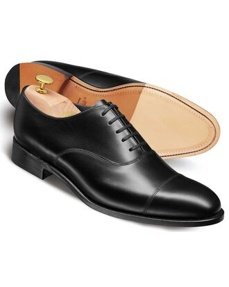 Black Heathcote calf leather toe cap Oxford shoes
