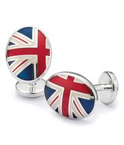 Union Jack enamel cuff links
