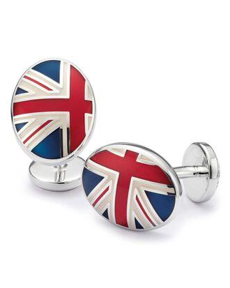 Union Jack enamel cuff links