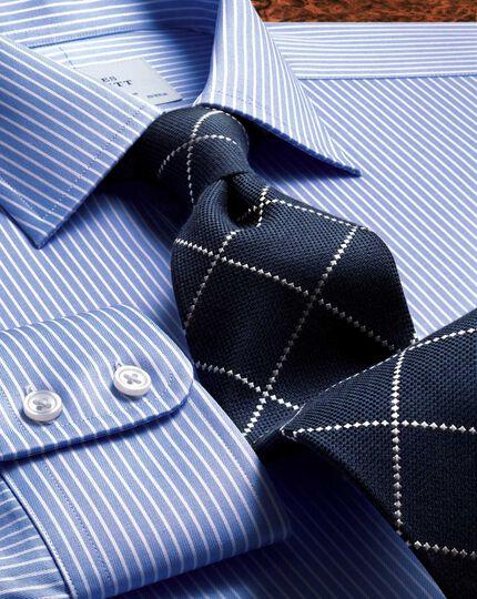 Slim fit Egyptian cotton stripe blue shirt