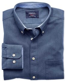 Extra Slim Fit Oxfordhemd in blau
