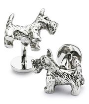 Scottie dog cuff links