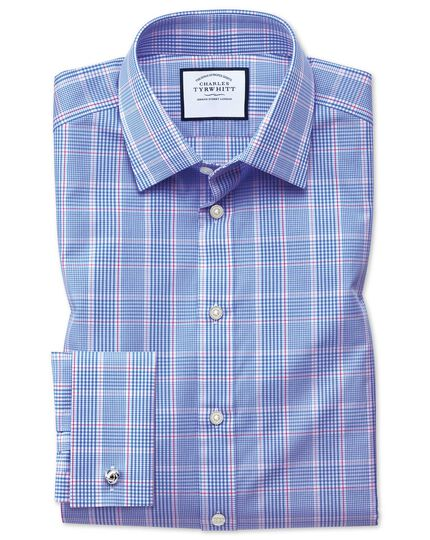 Slim fit Prince of Wales blue shirt