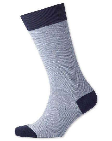 Blue birdseye socks