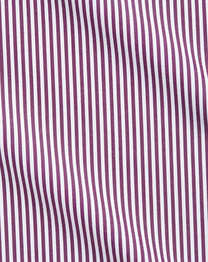 Slim fit Bengal stripe purple shirt