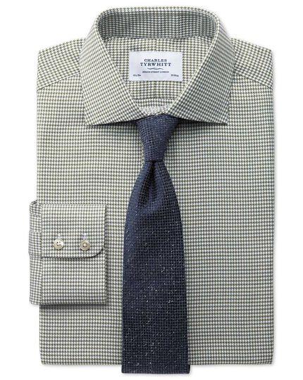 Navy silk mix fleck luxury tie