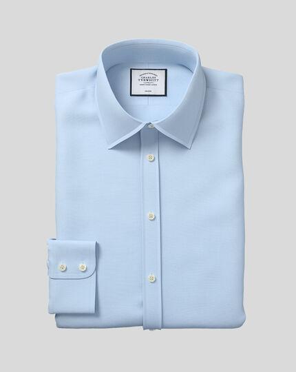 Bügelfreies Slim Fit Popeline-Hemd in himmelblau