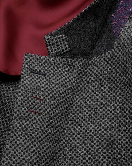 Slim Fit Luxus-Tweedsakko in Grau